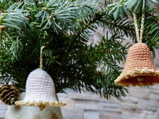 Glöckchen häkeln für Weihnachten